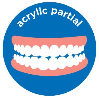 acryclic partial denture costs aspen dental